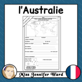 l'Australie / Australia French Worksheet