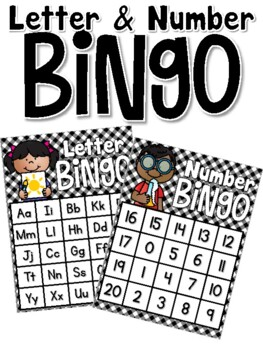 l Love School Letter and Number Bingo