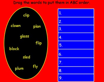Promethean Board-l blends:On My Way To School-Treasures 1st grade reading series
