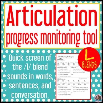/l/ blends articulation baseline and end progress monitor