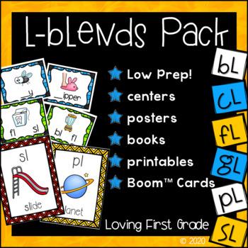 L-Blends Pack (bl, cl, fl, gl, pl, & sl) Centers & Printables