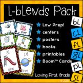 L Blends Pack (bl, cl, fl, gl, pl, & sl) Centers, BOOM Cards™, & Much More!