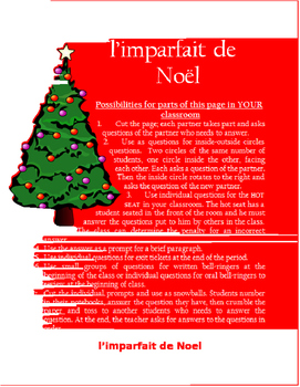 l'imparfait de Noel  FRENCH