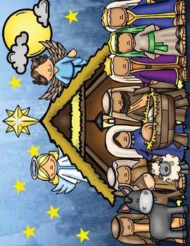 la Nativité - activité de coloriage / the Nativity coloring activity