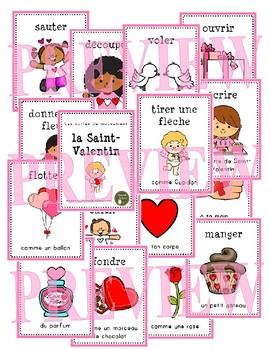 la Saint-Valentin - les cartes de mouvement (French Valentine movement cards)