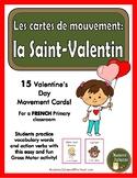 la Saint-Valentin - les cartes de mouvement (French Valent