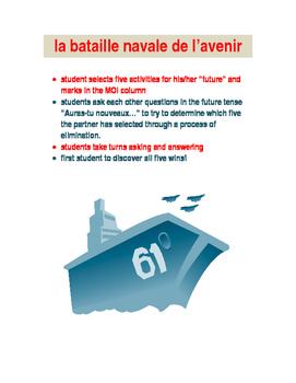 la bataille navale de l'avenir : future tense game in FRENCH