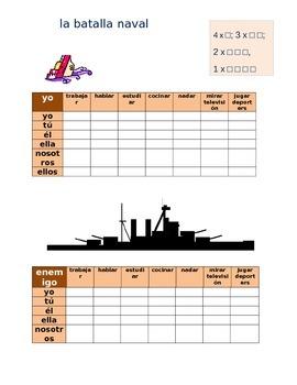 la batalla naval SPANISH ar verbs