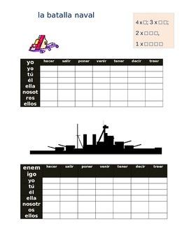 la batalla naval SPANISH go verbs