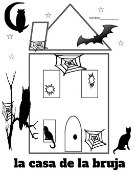 la casa de la bruja   Espanol counting numbers Spanish  Halloween witch's house