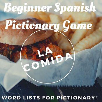 la comida- Spanish foods pictionary (Realidades 1 Chapter 3B)
