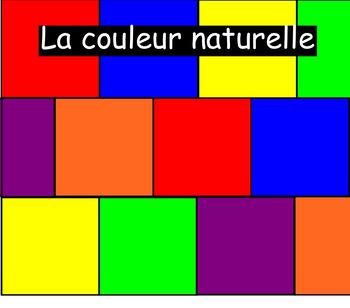 natural - manufactured colour - la couleur naturelle - la