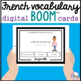 la famille French family vocabulary review digital BOOM Cards