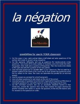 la négation #1 FRENCH NEGATIVE