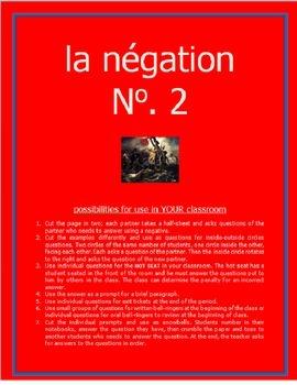 la négation #2 FRENCH NEGATIVES