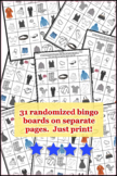 la ropa / clothing Bingo Activity Pack Spanish