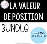 la valeur de position I French math place value bundle