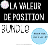 la valeur de position I French math place value bundle