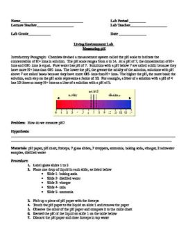 lab on Measuring Ph Levels