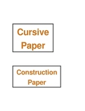 labels for your writing center