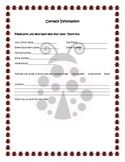lady bug themed contact information