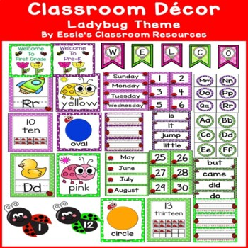 Classroom  Decor- Ladybug Theme