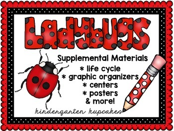 ladybugs bundle: math, science and literacy activities