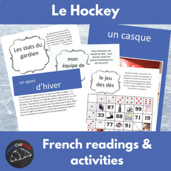 le Hockey - a reading & activity unit for French learners