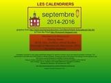 le calendrier - septembre