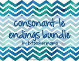 le ending bundle (ble, ckle, dle, ple, tle, zle)