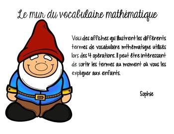 le mur du vocabulaire mathématique