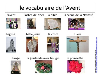 le vocabulaire de l'Avent