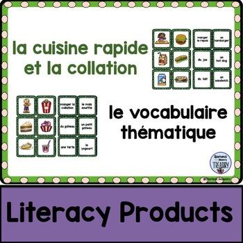 le vocabulaire thématique - la cuisine rapide et la collation