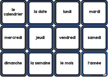 le vocabulaire thématique - le calendrier