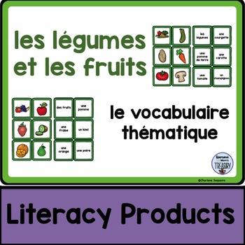 le vocabulaire thématique - les légumes et les fruits