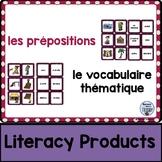 le vocabulaire thématique - les prépositions