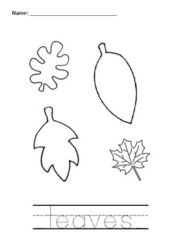 leaf/leaves Coloring Activity