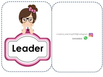 learners roles cards