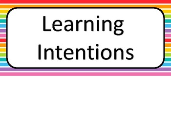 learning intention board