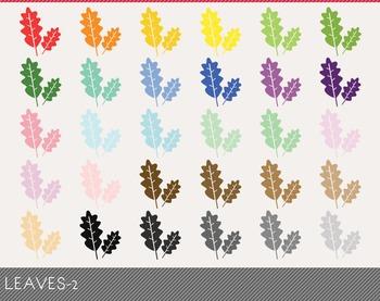 leaves Digital Clipart, leaves Graphics, leaves PNG, Rainbow leaves Digital