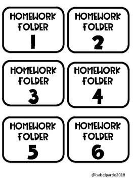 left at home homework labels