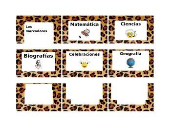 leopard print basket labels