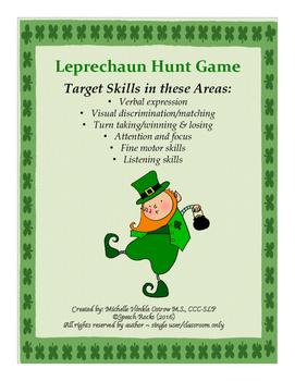 Leprechaun Hunt Game ~ Verbal Expression, Visual Discrim,