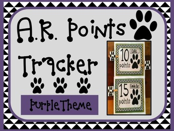 Aclerated Reader AR Points Tracker PURPLE Theme