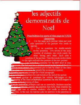 les adjectifs démonstratifs  de Noel FRENCH