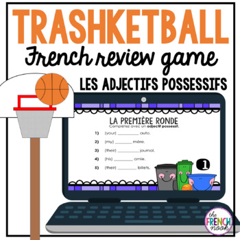les adjectifs possessifs Trashketball review game