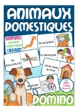 les animaux domestiques - French domino game primary schoo