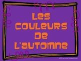 les couleurs d'automne (autumn/fall colors in French)