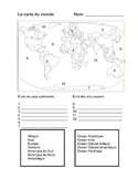 les continents et oceans du monde