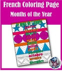 les mois de l'année- Months of the year French Adult Coloring Page